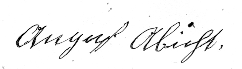 August Abbott Signature