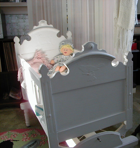 Abbott Family Cradle Footboard