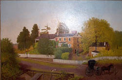Oil Painting of John Frew house