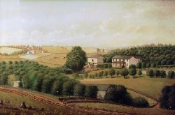 Oil Painting of Abbott Farm, Mount Lebanon, PA 1875