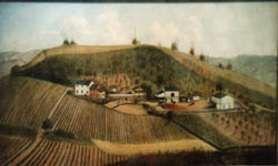 Oil Painting of Haudenshield vineyard, Green Tree, PA
