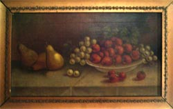 Another Oil Painting of pears and strawberries